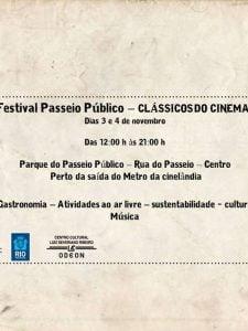 03 e 04/11: Festival Passeio Público do Rio de Janeiro – Clássicos do Cinema