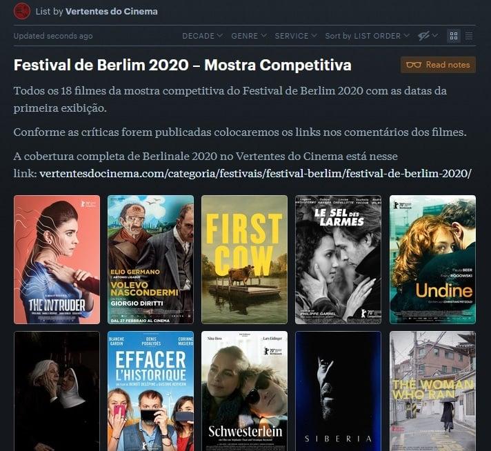 Letterboxd Berlinale 2020
